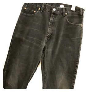 Levi's Black 505 straight leg w36 L30 distressed